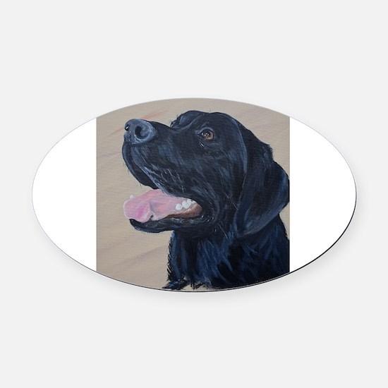 Funny Canine labrador Oval Car Magnet
