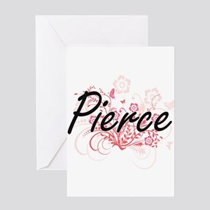 Pierce surname artistic design with Greeting Cards