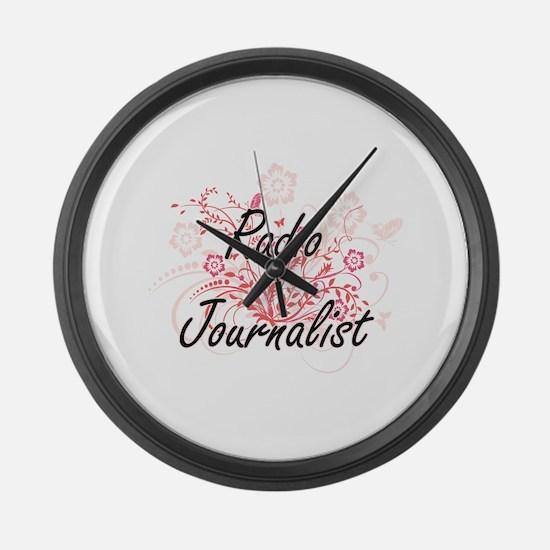 Radio Journalist Artistic Job Des Large Wall Clock