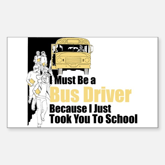 Bus Driver Rectangle Decal