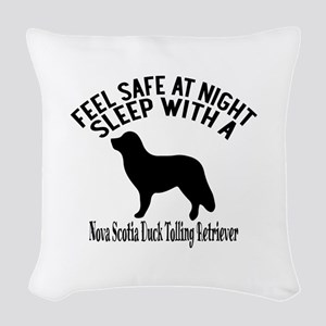 Feel Safe At Night Sleep With Woven Throw Pillow