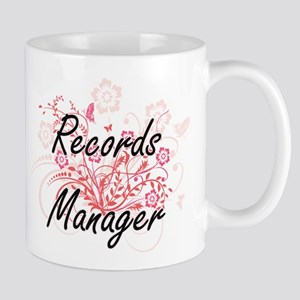 Records Manager Artistic Job Design with Flow Mugs