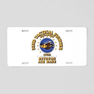 22nd TFS - Bitberg AB Aluminum License Plate