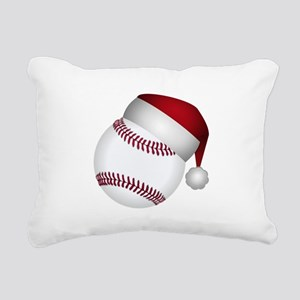 Christmas Baseball Rectangular Canvas Pillow