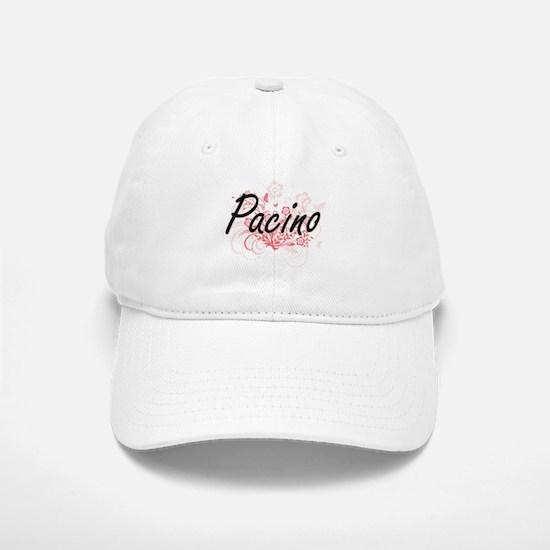 Pacino surname artistic design with Flowers Baseball Baseball Cap