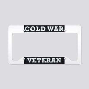 Cold War Era Veteran License Plate Holder