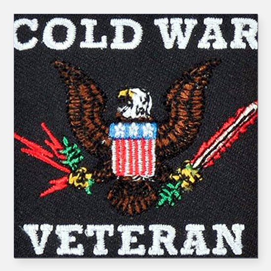 "Cold War Era Veteran Square Car Magnet 3"" x 3"""