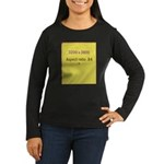 Mouse Pad Image 1 Women's Long Sleeve Dark T-Shirt