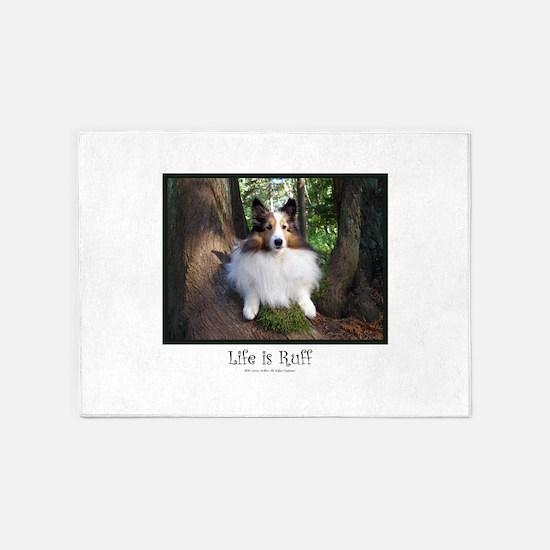 Life is Ruff 5'x7'Area Rug