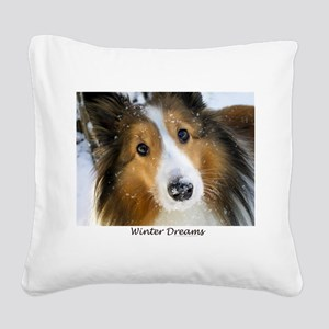 Winter Dreams Square Canvas Pillow