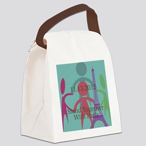 Stand Together With Paris Canvas Lunch Bag