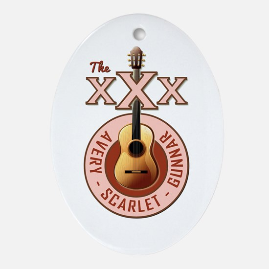 THE TRIPLE X'S Oval Ornament