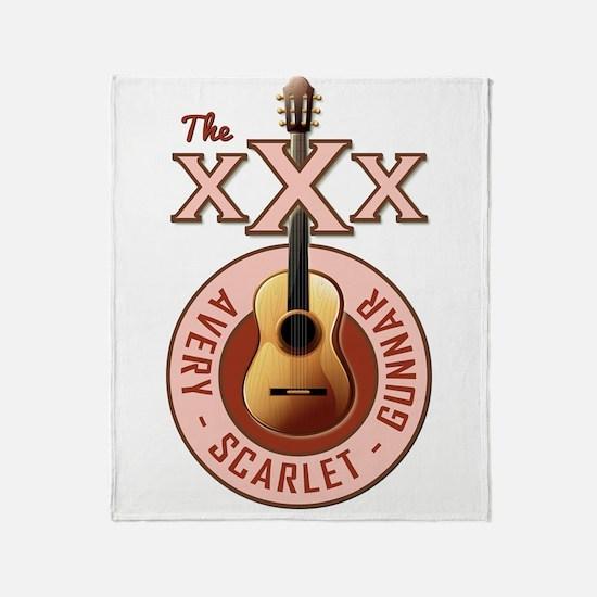 THE TRIPLE X'S Throw Blanket