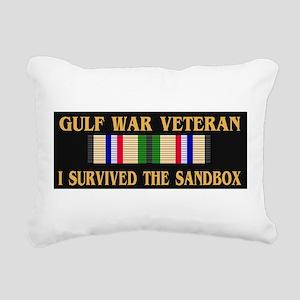 I survived the sandbox Rectangular Canvas Pillow