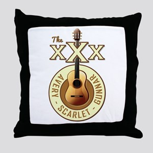 THE TRIPLE X'S Throw Pillow