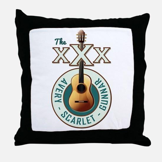 THE TRIPLE X'S Throw Pillow