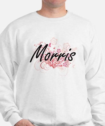 Morris surname artistic design with Flo Sweatshirt