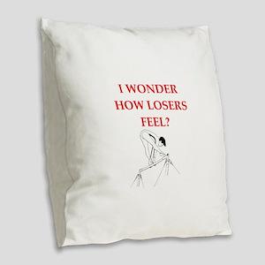 gymnast Burlap Throw Pillow