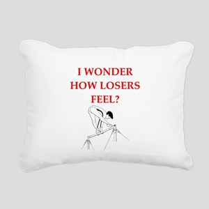 gymnast Rectangular Canvas Pillow