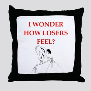 gymnast Throw Pillow