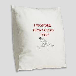 winner joke Burlap Throw Pillow