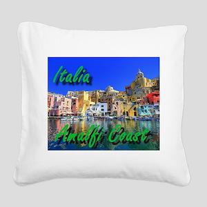 Beautiful Amalfi Coast Square Canvas Pillow
