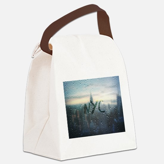 Rainy Day in NYC Canvas Lunch Bag