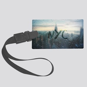 Rainy Day in NYC Large Luggage Tag