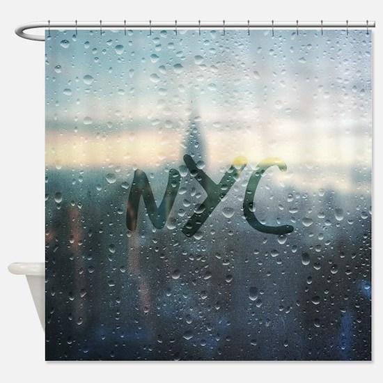 Cool Rain Shower Curtain