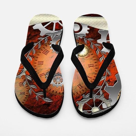 Steampunk in noble design Flip Flops