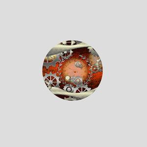Steampunk in noble design Mini Button