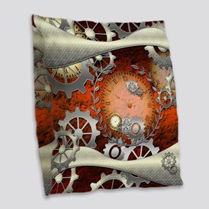 Steampunk in noble design Burlap Throw Pillow