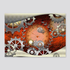 Steampunk in noble design 5'x7'Area Rug