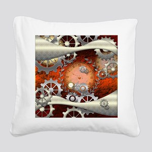 Steampunk in noble design Square Canvas Pillow