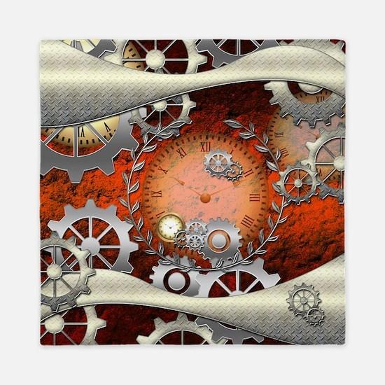 Steampunk in noble design Queen Duvet