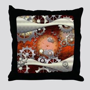 Steampunk in noble design Throw Pillow