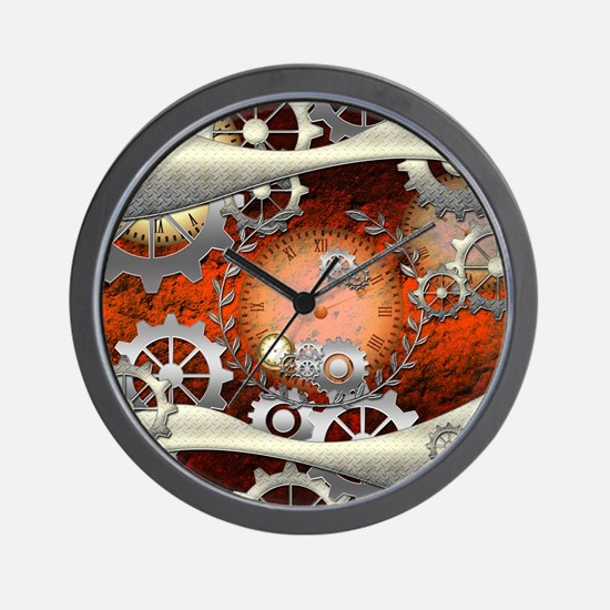 Steampunk in noble design Wall Clock