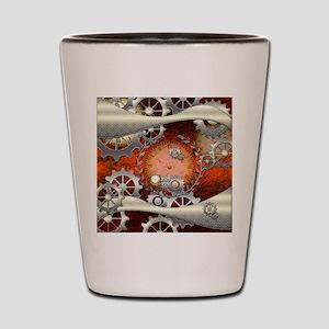 Steampunk in noble design Shot Glass