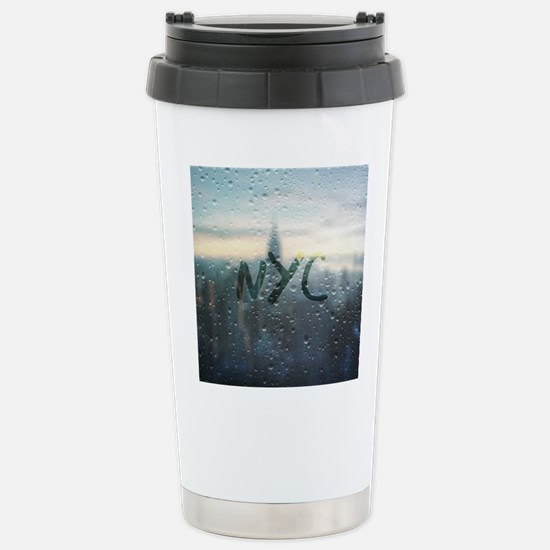 Rainy Day in NYC Stainless Steel Travel Mug