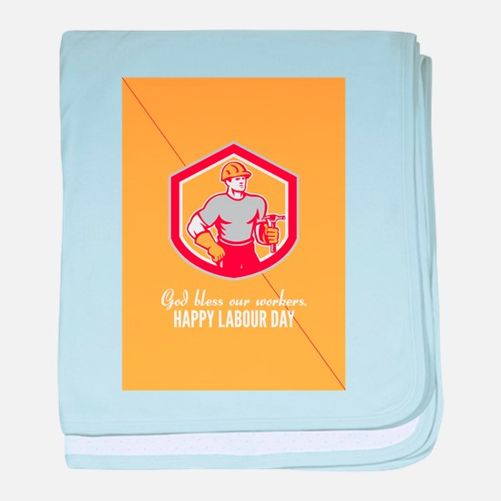 Labor Day Greeting Card Builder Carpenter Hammer S