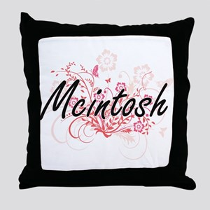 Mcintosh surname artistic design with Throw Pillow