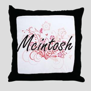 Mcintosh surname artistic design with Throw Pillow