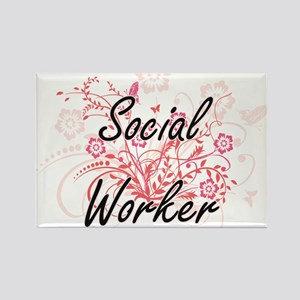 Social Worker Artistic Job Design with Flo Magnets
