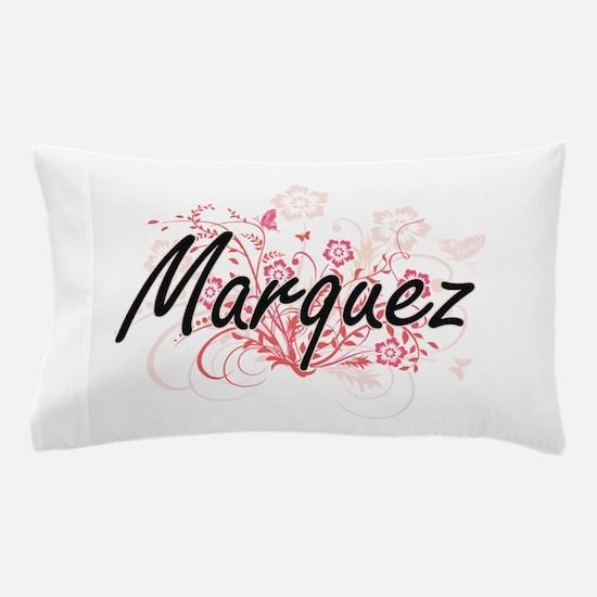 Marquez surname artistic design with F Pillow Case