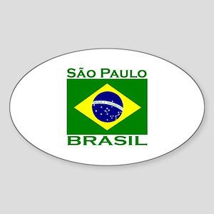 Sao Paulo, Brazil Oval Sticker