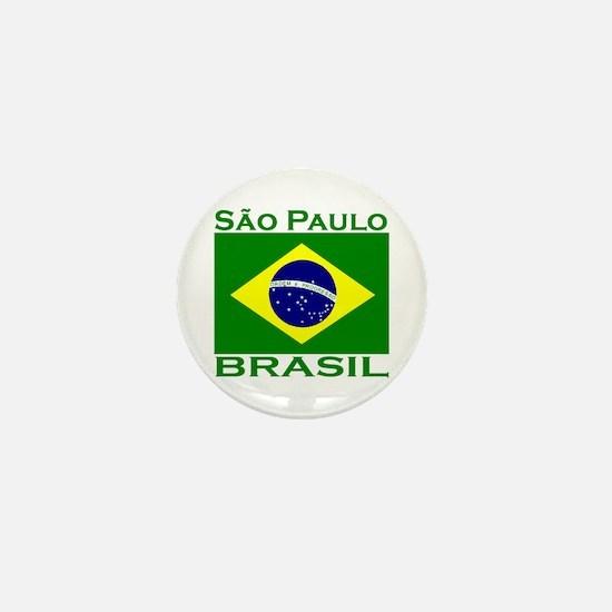 Sao Paulo, Brazil Mini Button