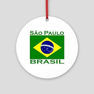 Sao Paulo, Brazil Ornament (Round)
