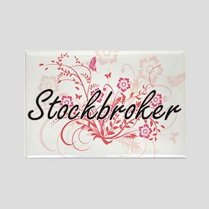 Stockbroker Artistic Job Design with Flowe Magnets