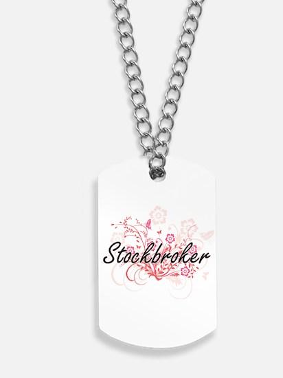 Stockbroker Artistic Job Design with Flow Dog Tags