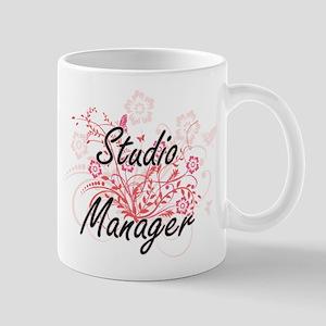 Studio Manager Artistic Job Design with Flowe Mugs